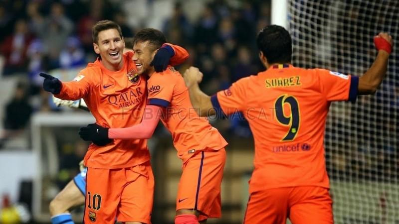 Hat trick Lionela Messiego w meczu z Deportivo La Coruna