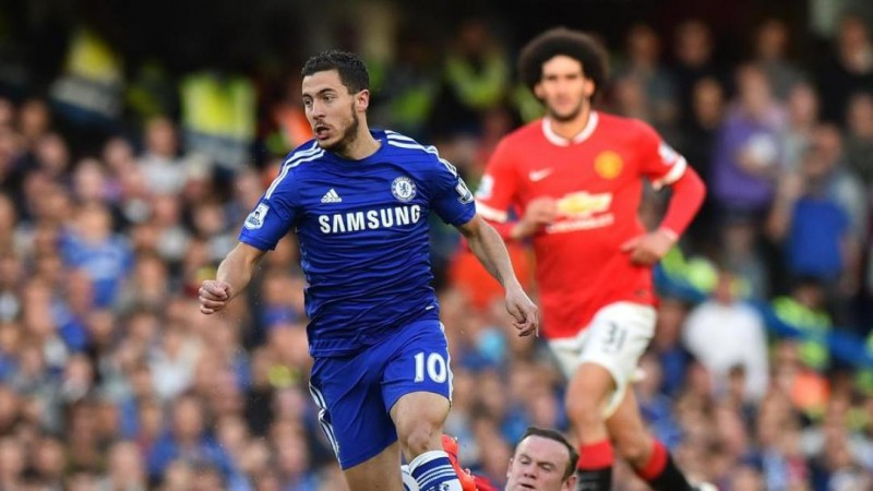 Eden Hazard drives Chelsea closer to title against Manchester United