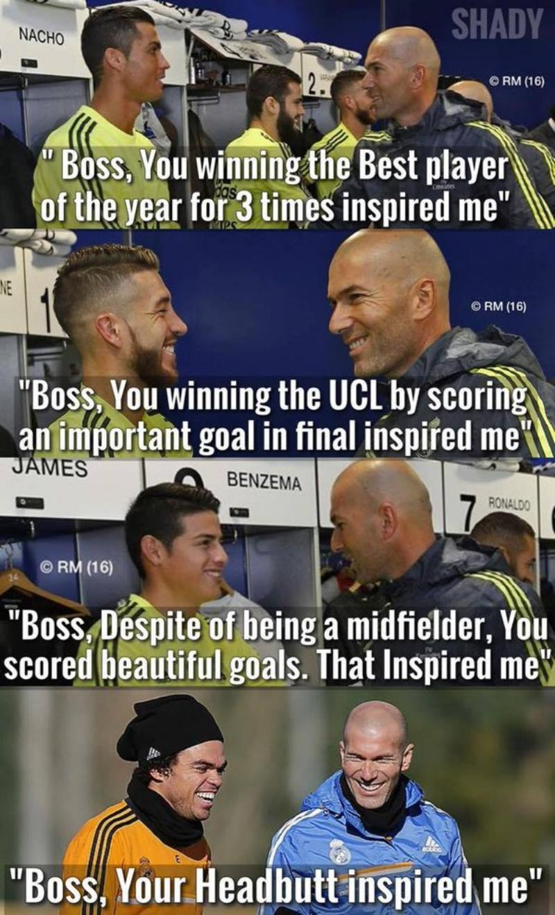 Zizou, the inspiration of every Real Madrid player.
