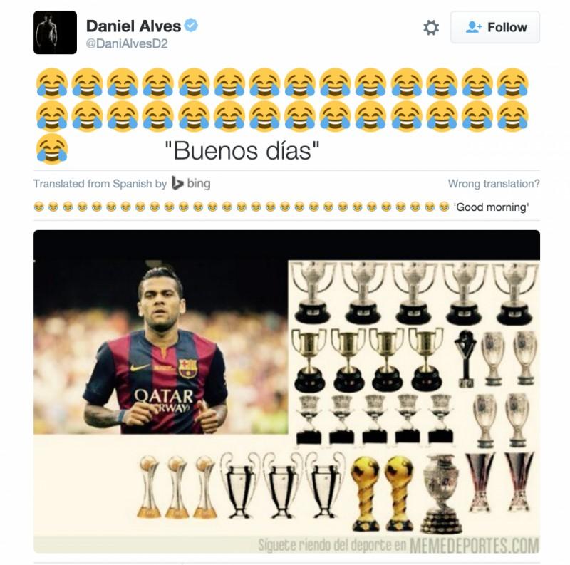 Odpowiedz Daniego Alvesa na komentarz CR7