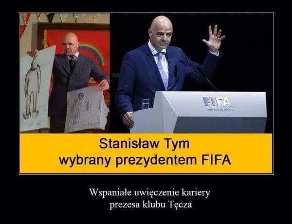 Stanisław Tym wybrany prezedentem FIFA