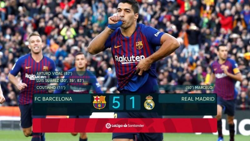 Barcelona wbija w glebe Real Madryt